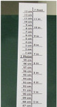 Height Chart 7' White with Black Lettering