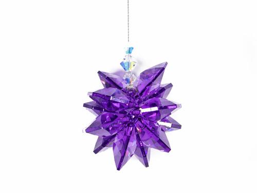 Dark Purple Flower Shaped Sun Catcher