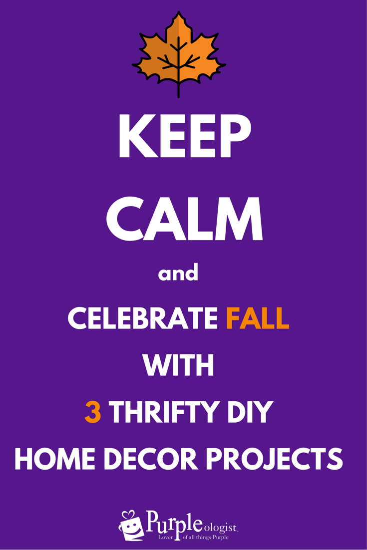 Celebrate Fall With 3 Thrifty Diy Home Decor Projects Purpleologist