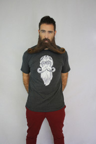 Live Long Beard Longer - Charcoal Heather