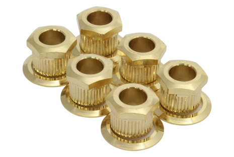 """Kluson hex head conversion bushings for 1/4"""" sting posts - Gold"""