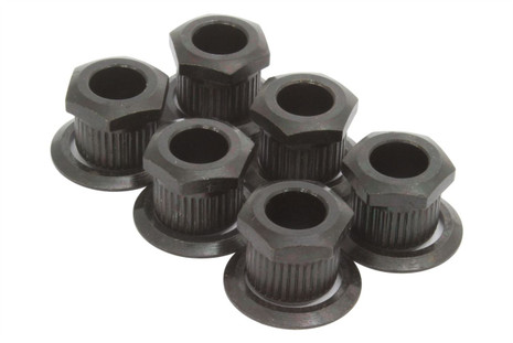 Kluson hex head conversion bushings for 6mm sting posts - Black