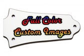 Full Color Older Epiphone Les Paul truss rod cover