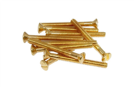 "SAE 3-48 x 1"" Filtertron Adapter Plate screws - Gold"