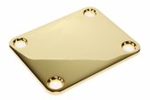 Thick Gold neck plate.