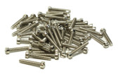 Humbucker P90 Fillister Pole Screws Nickel plated 60 pieces