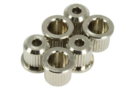 GOTOH TLB-1 guitar string ferrules for thru-body fixed bridges.  Nickel