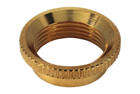 Fine Knurl Deep Nut for Switchcraft toggle switches - Gold