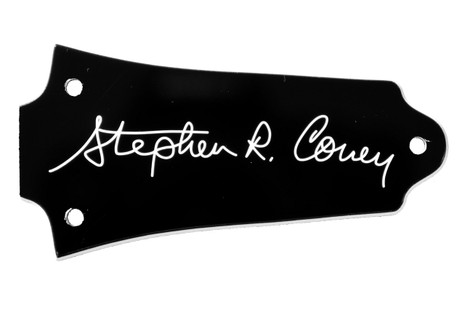 Signature truss rod cover for older Epiphone Les Paul, etc guitars.