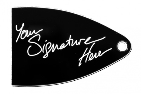Signature truss rod cover for import PRS SE guitars.
