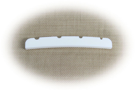 Bone Nut for Fender Precision Bass guitar.   Pre-shaped and slotted. Allparts
