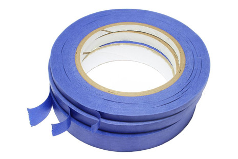 3 different sizes of fretboard masking tape - low tack