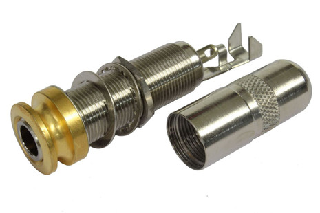 Switchcraft Mono/Stereo Acoustic Endpin Jack - Gold