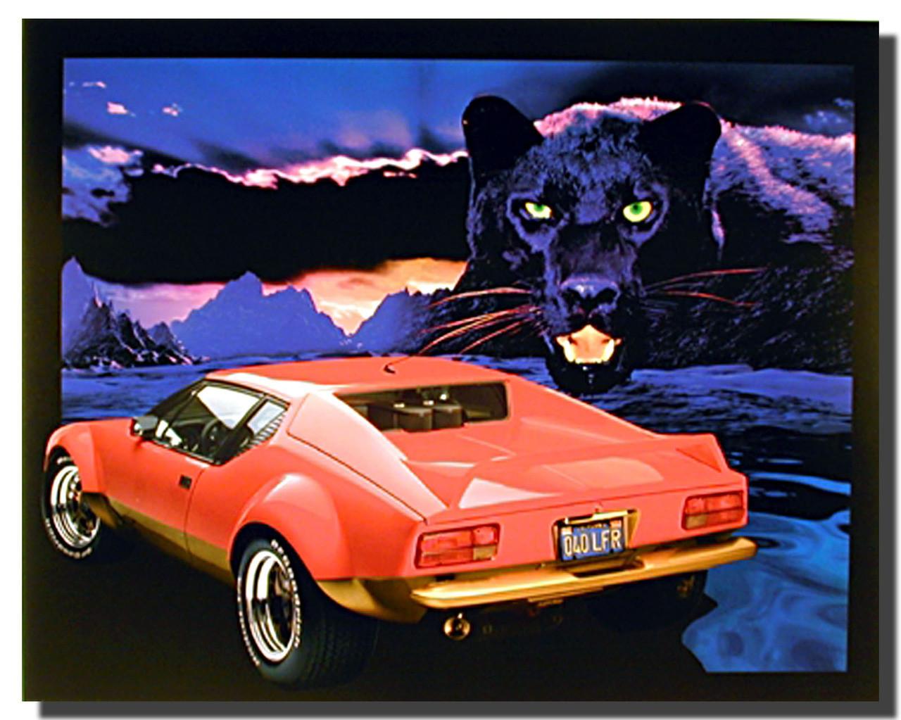 pantera car poster car posters automotive posters