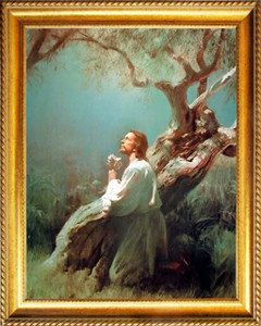 Jesus Christ Praying in Gethsemane Posters