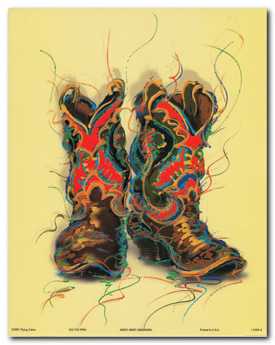Western Cowboy Boots Rodeo | Cowboy Posters