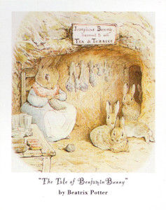 The Tale of Peter Rabbit and Benjamin Bunny By Beatrix Potter Kids Room Wall Decor Art Print Poster (16x20)