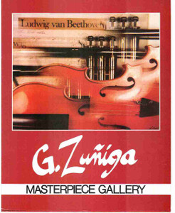 Ludwig Van Beethoven Musical Instrument (Violin) Fine Arts G. Zuniga Wall Decor Print Poster (16x20)
