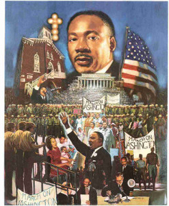 """The 1963 March On Washington"" Speech By Martin Luther King Jr. Wall Decor Art Print Poster (16x20)"