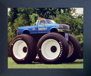 1993 Ford Racing Bigfoot Monster Truck Wall Poster (Espresso Framed Picture Art Print - 20x24)