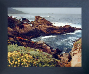 Big Sur Coastline, California Ocean Beach Landscape Scenery Nature Wall Decor Espresso Framed Picture Art Print (20x24)
