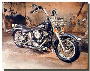 Black Harley Davidson Motorcycle Posters