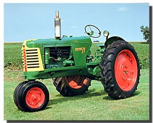 Oliver 77 Row Crop Tractor Poster