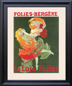 Fashion Girl Dance Dancing La Loie Fuller Folies Bergere Vintage Wall Décor Black Framed Art Print Poster (19x23)
