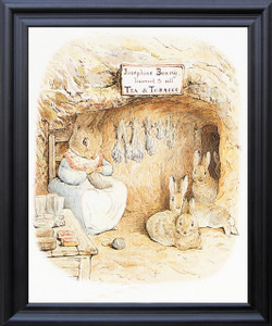 The Tale of Peter Rabbit and Benjamin Bunny By Beatrix Potter Kids Room Wall Décor Black Framed Art Print Poster (19x23)