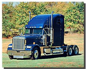 Freightliner Diesel Blue Truck Poster