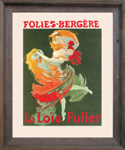 Fashion Girl Dance Dancing La Loie Fuller Folies Bergere Vintage Wall Décor Barnwood Framed Art Print Poster (19x23)