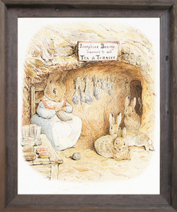 The Tale of Peter Rabbit and Benjamin Bunny By Beatrix Potter Kids Room Wall Décor Barnwood Framed Art Print Poster (19x23)