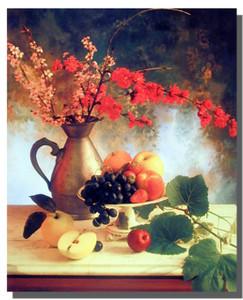 Flowers & Fruit Poster