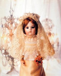 Cute Baby Doll in Wedding Dress Kids Bedroom Decor for Girls Art Print Poster (16x20)