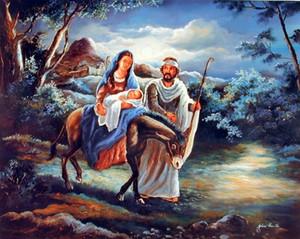 Flight to Egypt Religion & Spirituality Wall Decor Art Print Poster (16x20)