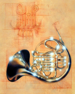 French Horn Musical Instrument Jazz Wall Decor Art Print Poster (16x20)