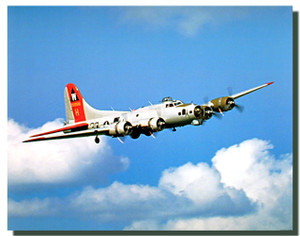 B-17 Airplane Poster