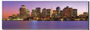 Boston City Skyline At Night Poster