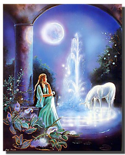 Unicorn Poster   Moonlit Garden