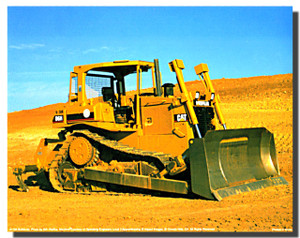 Caterpillar D6H Bulldozer Poster