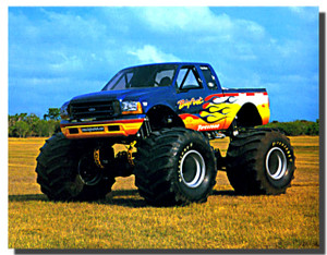 Bigfoot Monster Truck Racing Car Posters