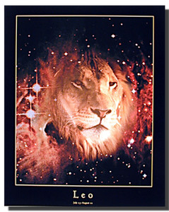 Leo Sign Poster
