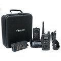 The GXT5000 has 22 GMRS/FRS channels with 121 privacy codes & silemt operation. Comes with dual drop-in charger, 2200 mAH ultra high capacity battery pack, holster with 180º swivel, Belt clip & hard side carry case. Full 5 year warranty.