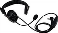 Kenwood KHS-7A Medium Single Earmuff Headset, Flexible Boom Microphone with PTT works with the TK series of radios.