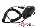 KMC-21 - The Kenwood Compact Lapel Shoulder Microphone is a compact speaker microphone that has a volume control and channel scan button along with being a Splash-proof design and swivel.