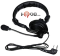 Light Duty Single Earmuff Headset by Kenwood is the KHS-7.  This is a comfortable over-the-top headset that is single earmuff and boom microphone.