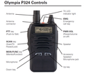 Check out the fetures and controls of the Olympia P-324 BRS Professional Hand-Held Radio