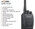 The TK3402 is extremely durable (built to IP54/55 and military 810 C, D, E, and F standards), making it a great choice for a wide array of environments, from light duty operations such as restaurants or hotels, to the toughest construction and warehouse jobs.