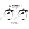 Motorola 1518 Pair of Push-To-Talk 2-Way Surveillance Headsets for the Talkabout 2-Way Radio features Push-To-Talk Button, Hands Free Talk and Listen