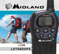 This Midland Radio LXT-560 is it! It's drop-in charger capable, battery life extender, water resistant. Get this FRS / GMRS radio now with free shipping.